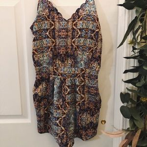 Pattered Romper WITH Pockets